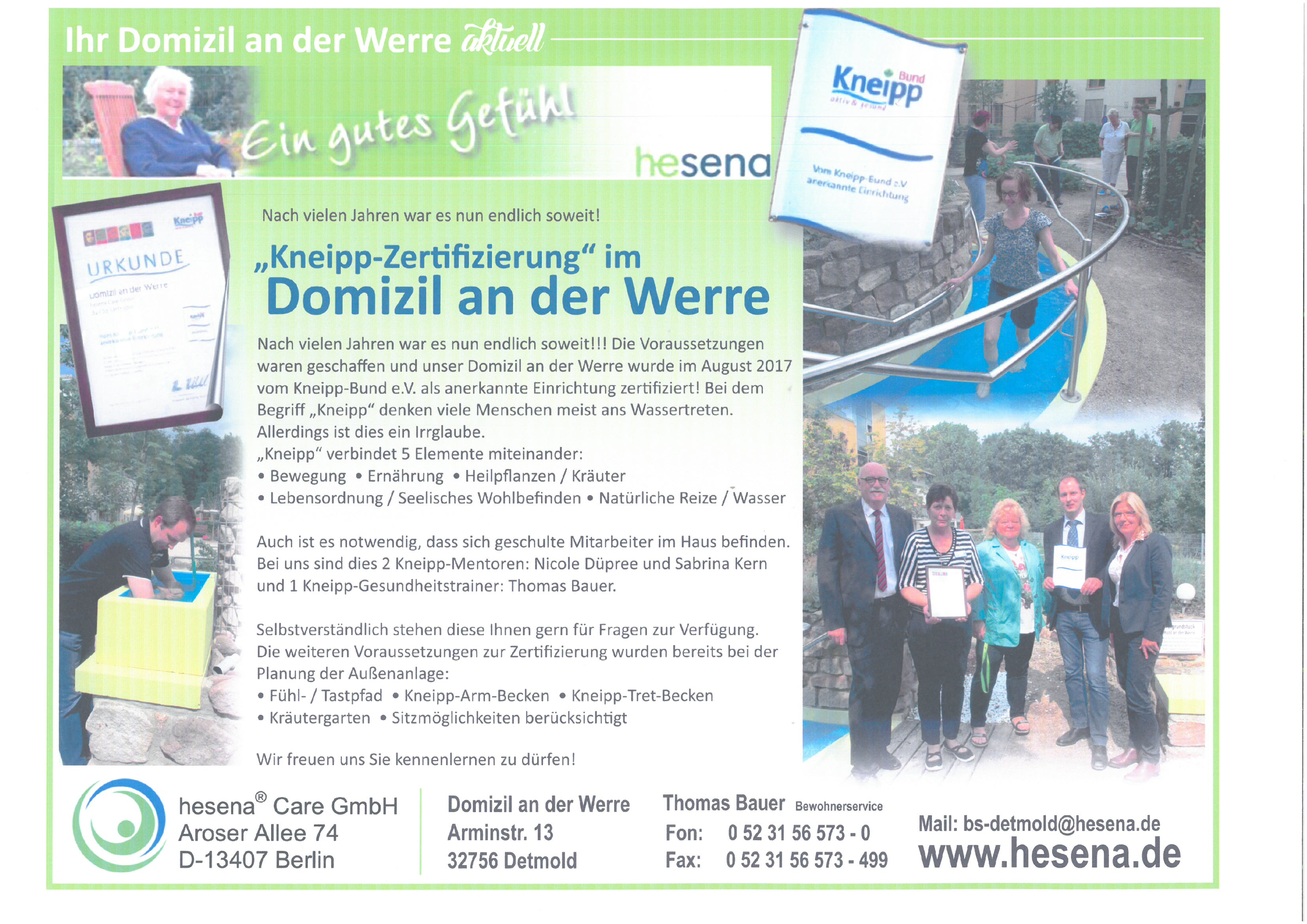 Domizil an der Werre in Detmold